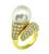 Diamond Pearl Gold Ring