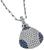 Estate 3.00ct Diamond 1.50ct Sapphire Pendant Necklace