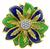 1960s 0.40ct Diamond Enamel Flower Pin