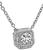 Estate GIA Certified 0.48ct Diamond Pendant Necklace