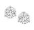 0.62ct and 0.58ct Round Cut Diamond 14k White Gold Studs Earrings