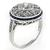 0.78ct Diamond Platinum Art Deco Engagement Ring