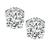 Estate GIA Certified 1.00ct and 1.01ct Diamond Stud Earrings