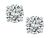 2.01cttw Round Brilliant Cut Diamond 14k White Gold Studs Earrings