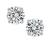 1.01cttw Round Cut Diamond 14k White Gold Stud Earrings