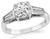 Estate GIA Certified 1.05ct Diamond Engagement Ring