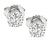 0.60ct and 0.58ct Round Cut Diamond 14k White Gold Studs Earrings