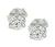 Estate GIA Certified 1.26cttw Diamond Stud Earrings