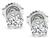 Estate GIA Certified 1.34cttw Diamond Stud Earrings