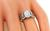 Vintage Oval Cut Diamond 14k White Gold Engagement Ring