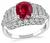GIA Certified 2.11ct Ruby 1.00ct Diamond Engagement Ring
