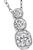 Estate GIA Certified 1.00ct Radiant Cut Diamond and 0.50ct Round Cut Diamond Pendant Necklace