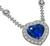 GIA Cert 21.13ct Sapphire Diamond Heart Necklace