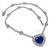 Estate GIA Certified 21.13ct Ceylon Sapphire 8.00ct Diamond Heart Pendant Necklace