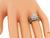Round Cut Diamond 14k White Gold Engagement Ring and Wedding Band Set