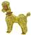 Estate Ruby Yellow Gold Poodle Pin
