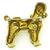 18k Gold Dog Pin