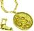 18k Yellow Gold Ram's Head Necklace