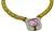Estate 30.00ct Kunzite 7.00ct Diamond Onyx Gold Necklace