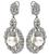 Round Cut Diamond Pearl 18k White Gold Earrings