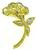 18k Gold Diamond Flower Pin