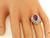 Pear Shape Pink Tourmaline Round and Marquise Cut Diamond 18k White Gold Ring