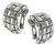18k White Gold Weave Earrings by Roberto Coin