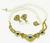 18k Gold Diamond Sapphire Pearl Necklace and Earrings Set