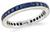 Estate 1.00ct Sapphire Eternity Wedding Band