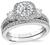 Estate Tacori GIA Certified 1.10ct Diamond Engagement Ring and Wedding Band Set