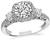 Round Cut Diamond 18k White Gold Tacori Engagement Ring and Wedding Band Set
