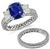 Tacori 2.74ct Sapphire Diamond Engagement Ring and Wedding Band Set