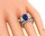 Estate Tacori 2.74ct Sapphire 4.25ct Diamond Engagement Ring and Wedding Band Set