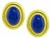 Estate Tiffany & Co Lapis Gold Paloma Picasso Earrings