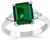 GIA Certified 1.37ct Natural No Oil Emerald Diamond Engagement Ring
