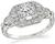 Art Deco 0.40ct Diamond Engagement Ring