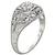 0.45ct Diamond Art Deco Engagement Ring