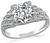 Art Deco GIA Certified 1.20ct Diamond Engagement Ring