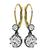 Victorian Old Mine Cut Diamond Silver and Gold Earrings
