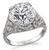 GIA Certified 3.62ct Diamond Art Deco Engagement Ring