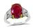 AGL Certified 3.63ct Natural No Heat Burmese Ruby Engagement Ring