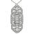 Art Deco Baguette and Old Mine Cut Diamond Platinum Pendant / Pin