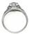 0.71ct Diamond Art Deco Engagement Ring