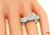 Art Deco European Cut Diamond Platinum Three Stone Ring