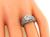 Art Deco Style Old Mine Cut Diamond Platinum Engagement Ring