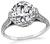 Antique GIA Certified 3.00ct Diamond Engagement Ring