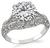 Edwardian GIA Certified 3.17ct Diamond Engagement Ring