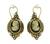 Pearl Onyx Cameo Jewelry Set