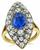 Victorian GIA Certified 3.00ct Natural Sapphire 2.00ct Diamond Engagement Ring