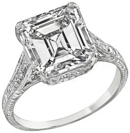 GIA Certified 4.21ct Diamond Engagement Ring Photo 1